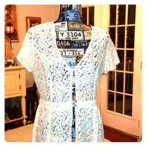 White lace full length coverall